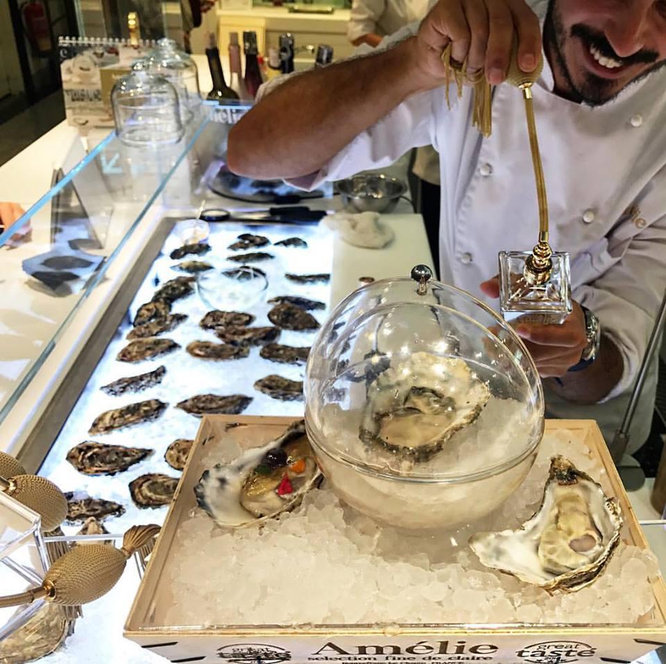 Huîtres Amélie ostras barcelona