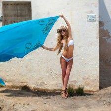Vamos a la playa con la sábana de Ôbaba París