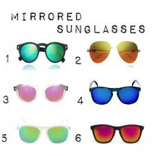 Mirrored sunglasses : Gafas Espejo