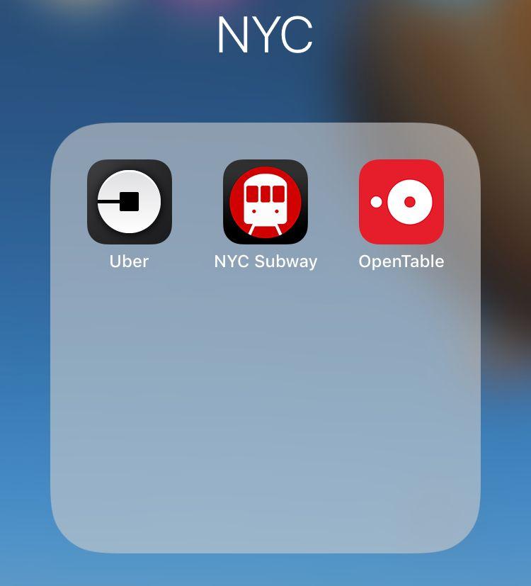 aplicaciones móvil Nueva York